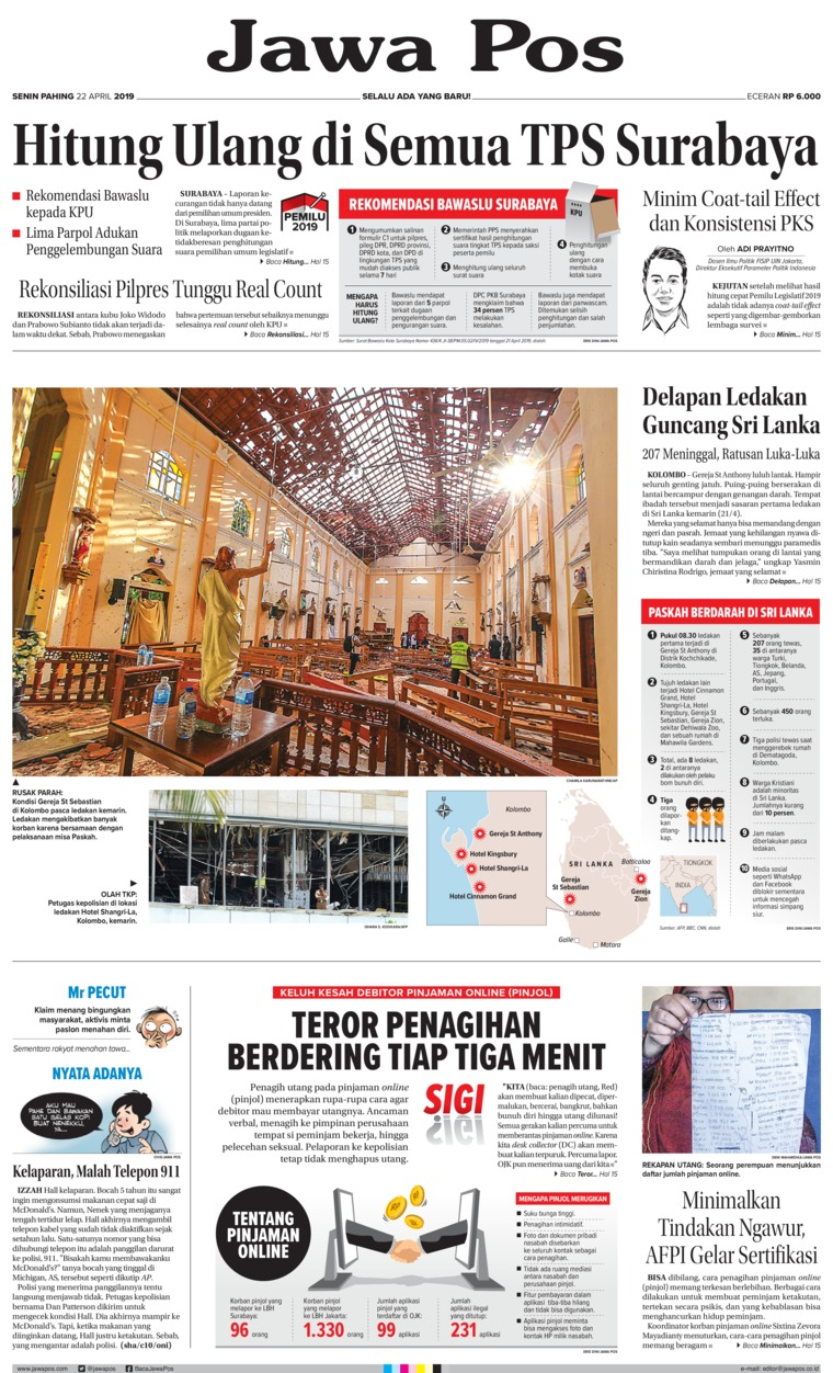Koran Digital Jawa Pos 22 April 2019