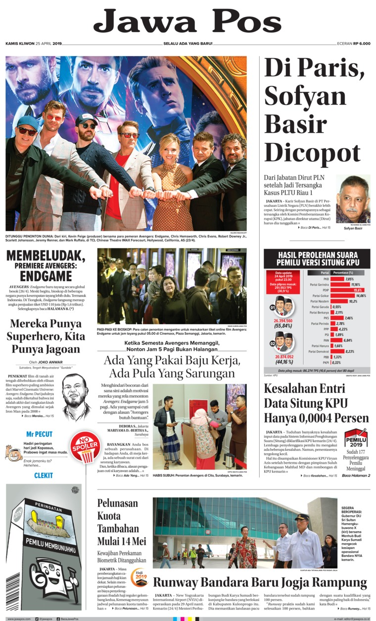 Koran Digital Jawa Pos 25 April 2019