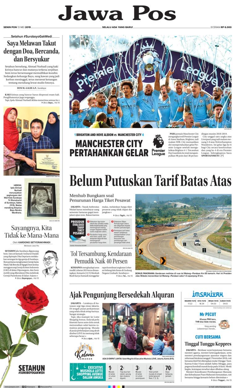 Koran Digital Jawa Pos 13 Mei 2019