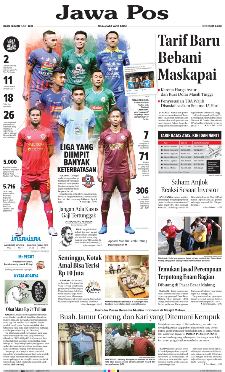 Koran Digital Jawa Pos 15 Mei 2019