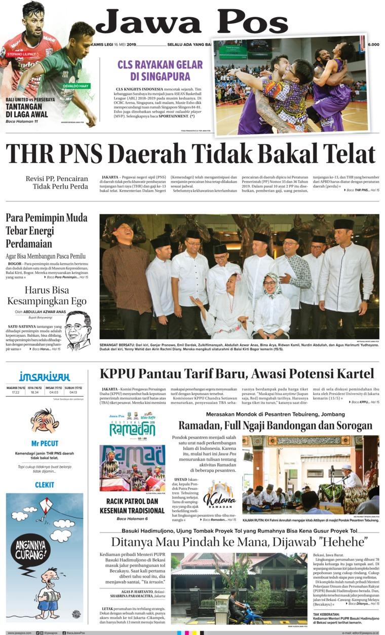 Koran Digital Jawa Pos 16 Mei 2019