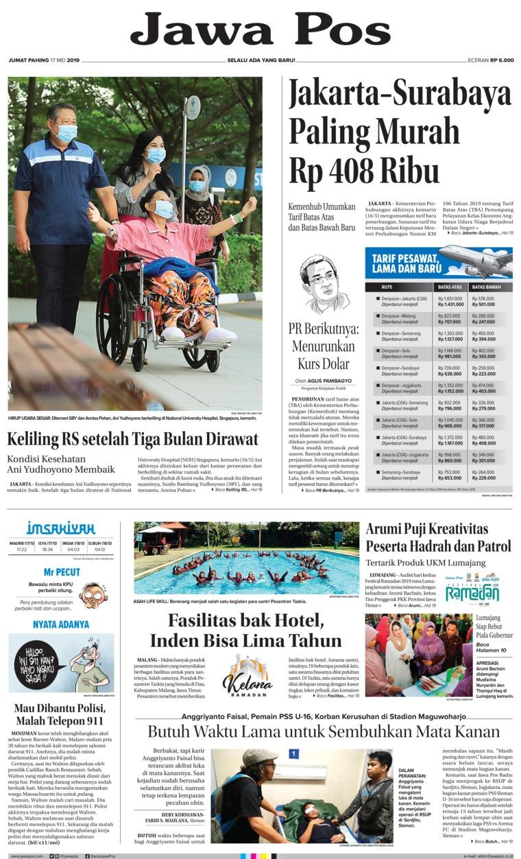 Koran Digital Jawa Pos 17 Mei 2019