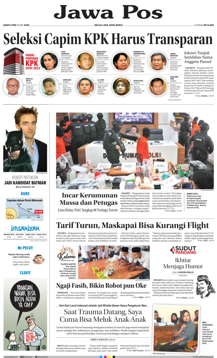 Koran Digital Jawa Pos 18 Mei 2019