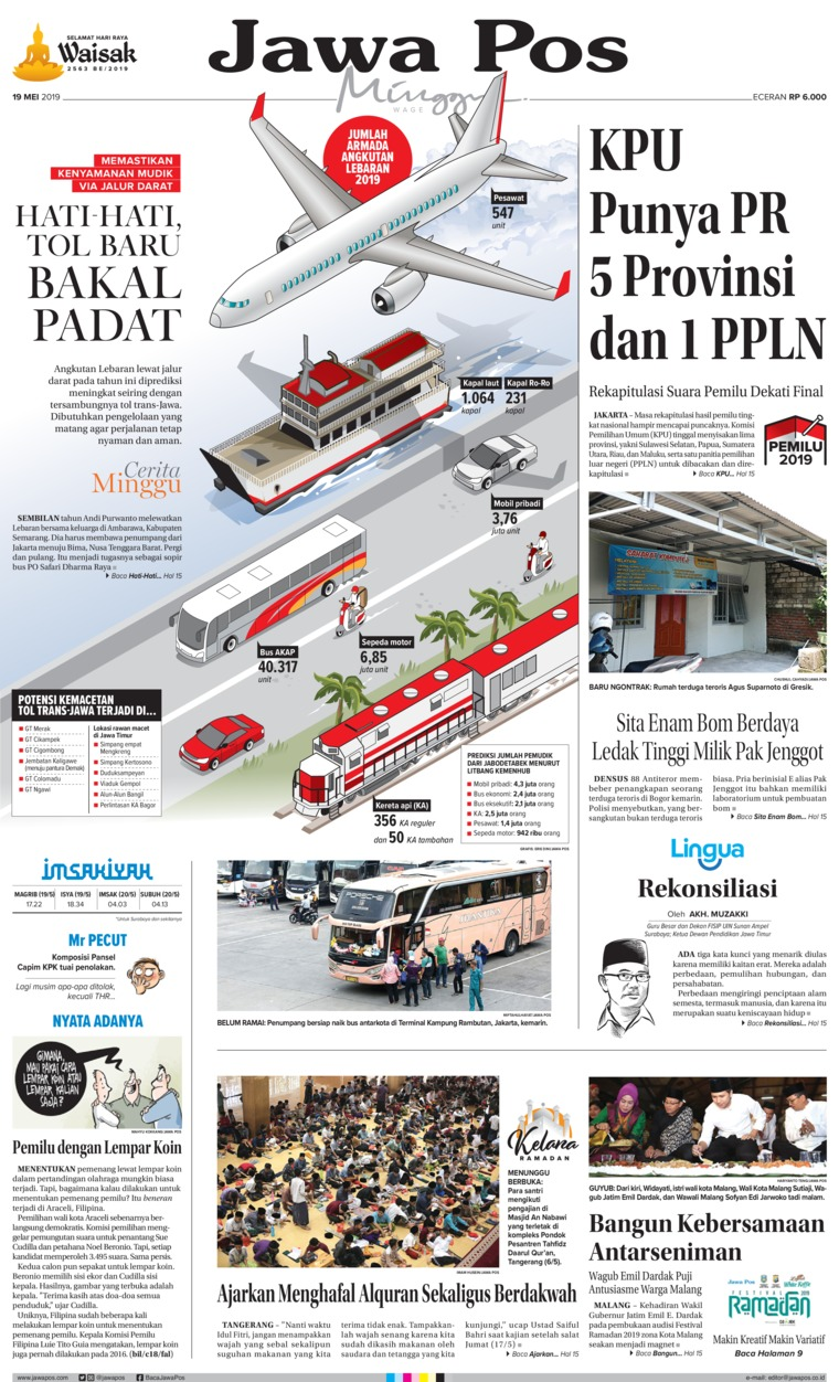Jawa Pos Digital Newspaper 19 May 2019