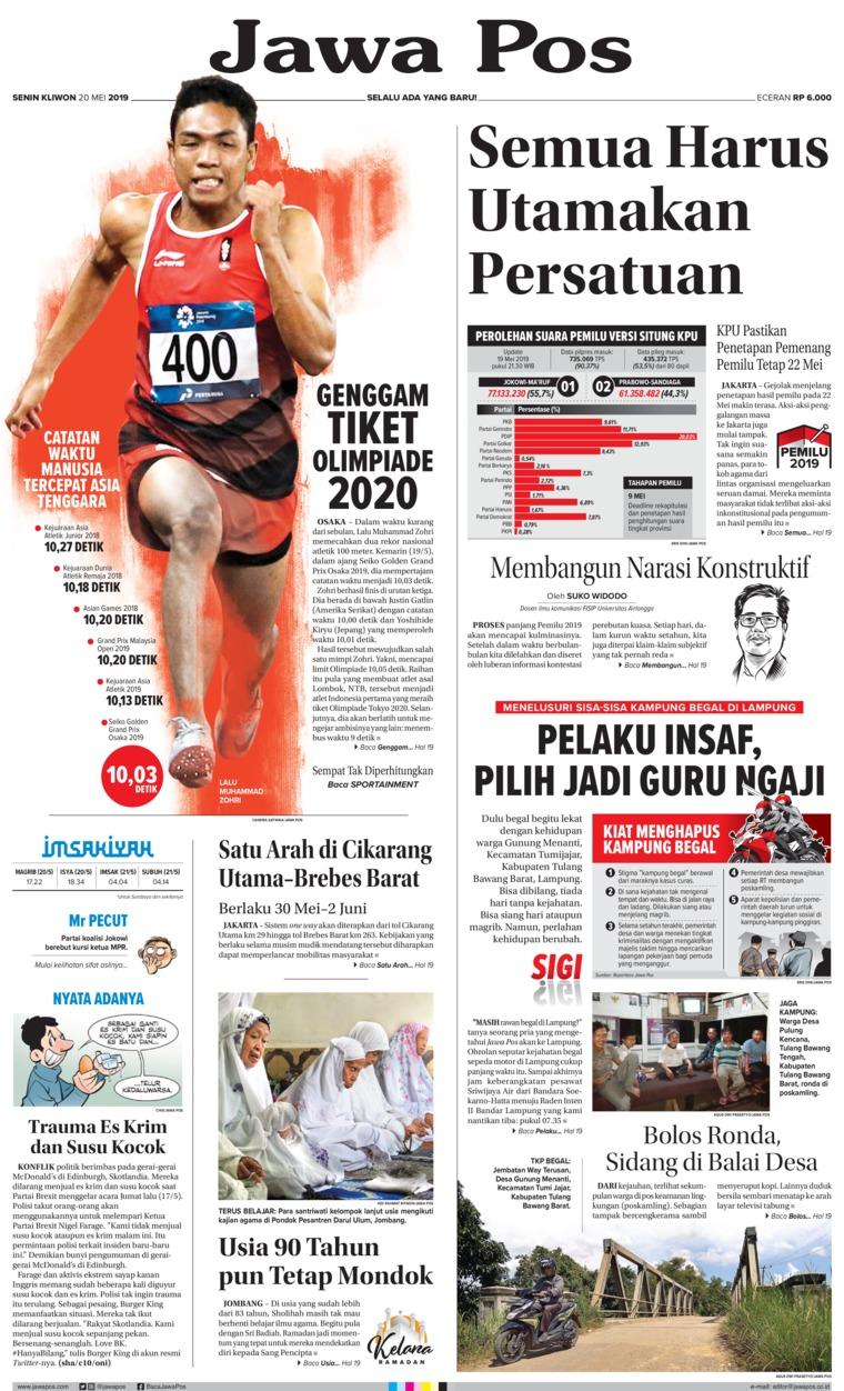 Koran Digital Jawa Pos 20 Mei 2019