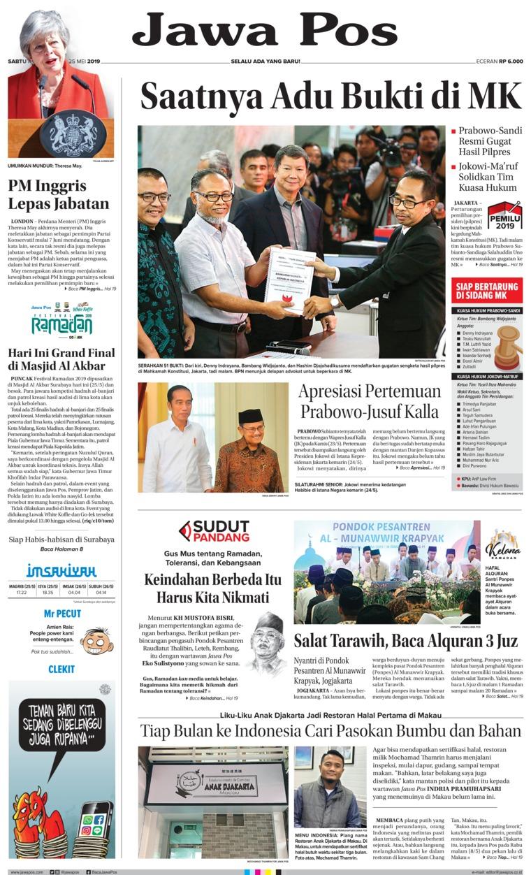 Koran Digital Jawa Pos 25 Mei 2019