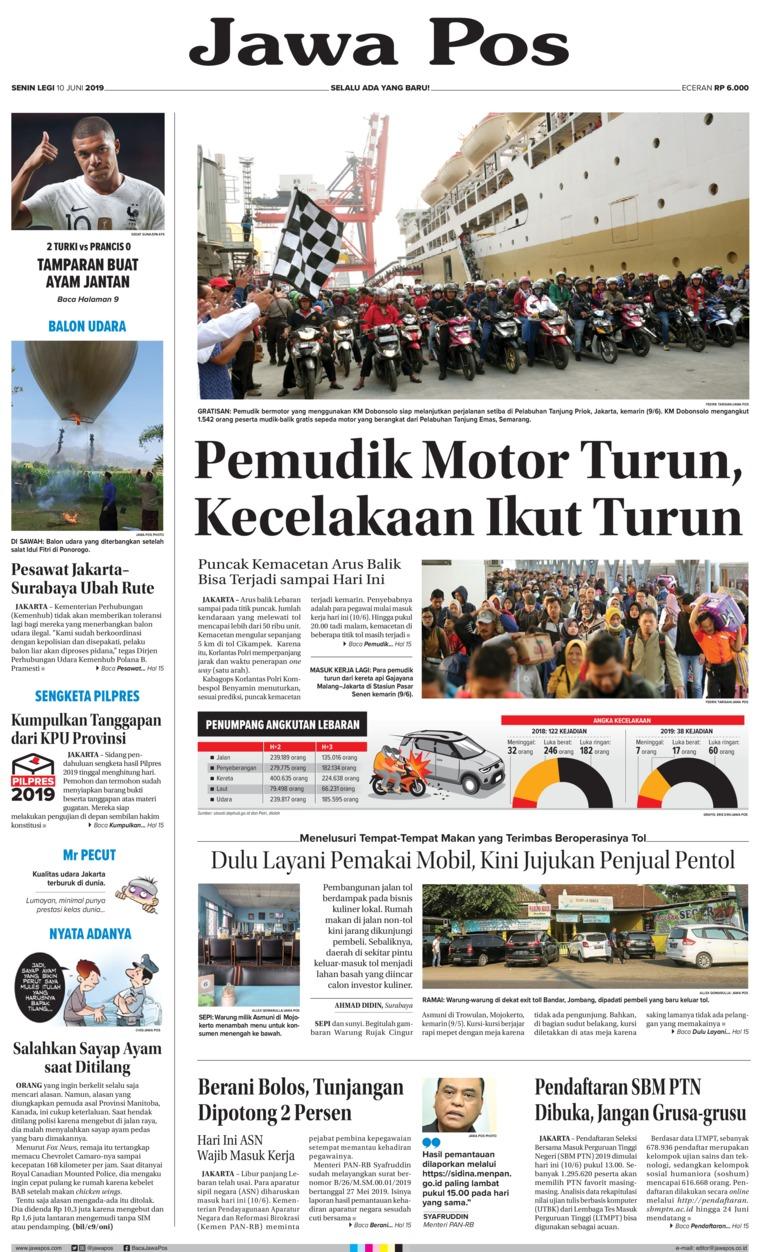 Koran Digital Jawa Pos 10 Juni 2019
