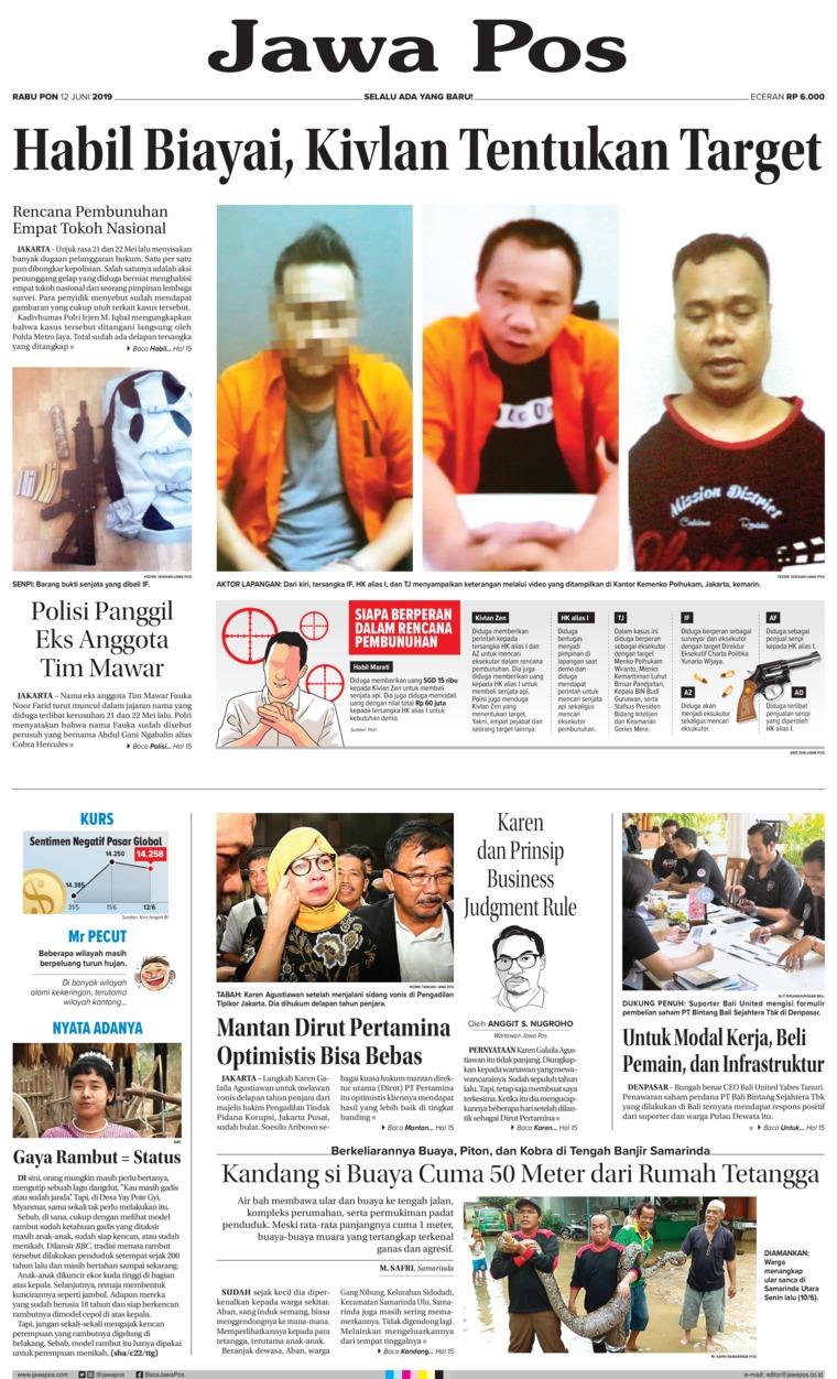 Jawa Pos Digital Newspaper 12 June 2019