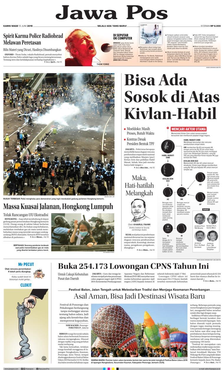 Jawa Pos Digital Newspaper 13 June 2019