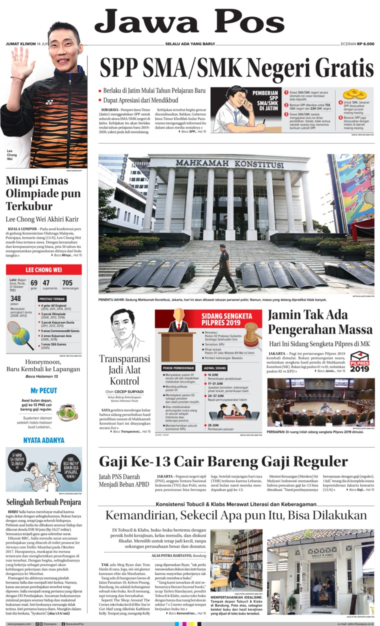 Jawa Pos Digital Newspaper 14 June 2019