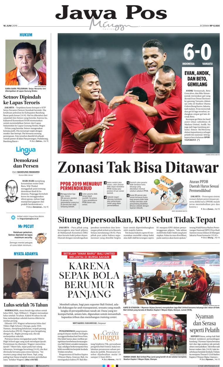 Koran Digital Jawa Pos 16 Juni 2019