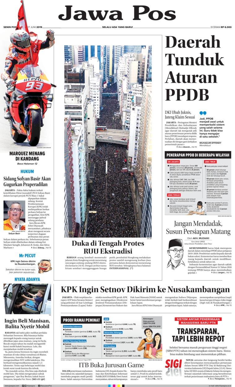 Jawa Pos Digital Newspaper 17 June 2019