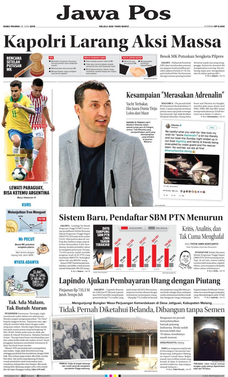 Koran Digital Jawa Pos 26 Juni 2019