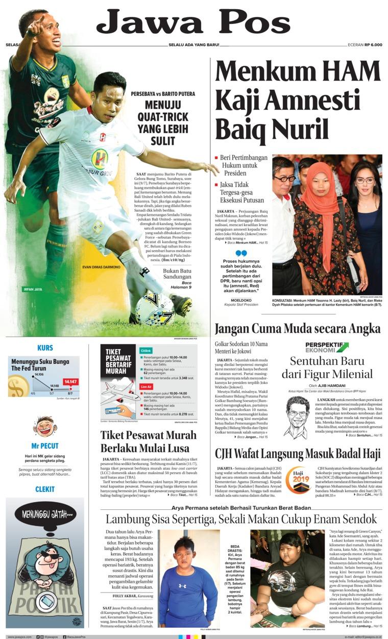 Koran Digital Jawa Pos 09 Juli 2019