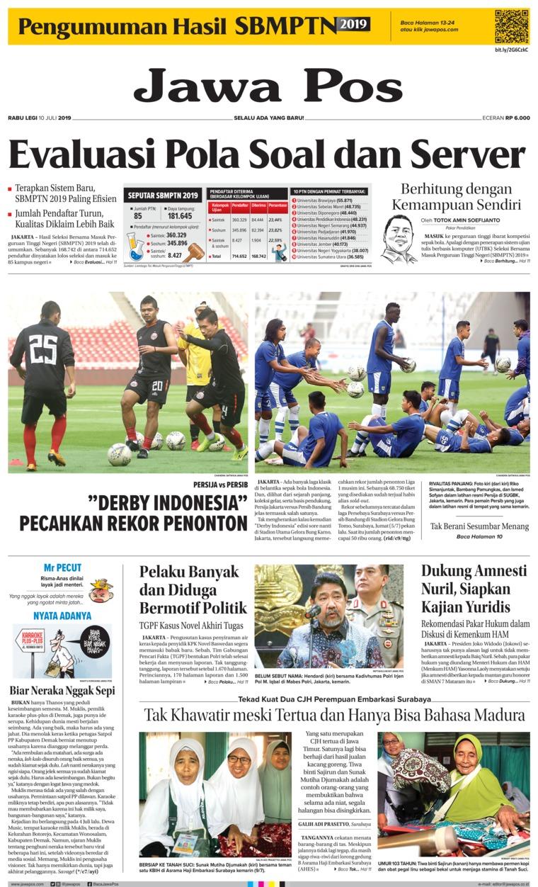 Koran Digital Jawa Pos 10 Juli 2019