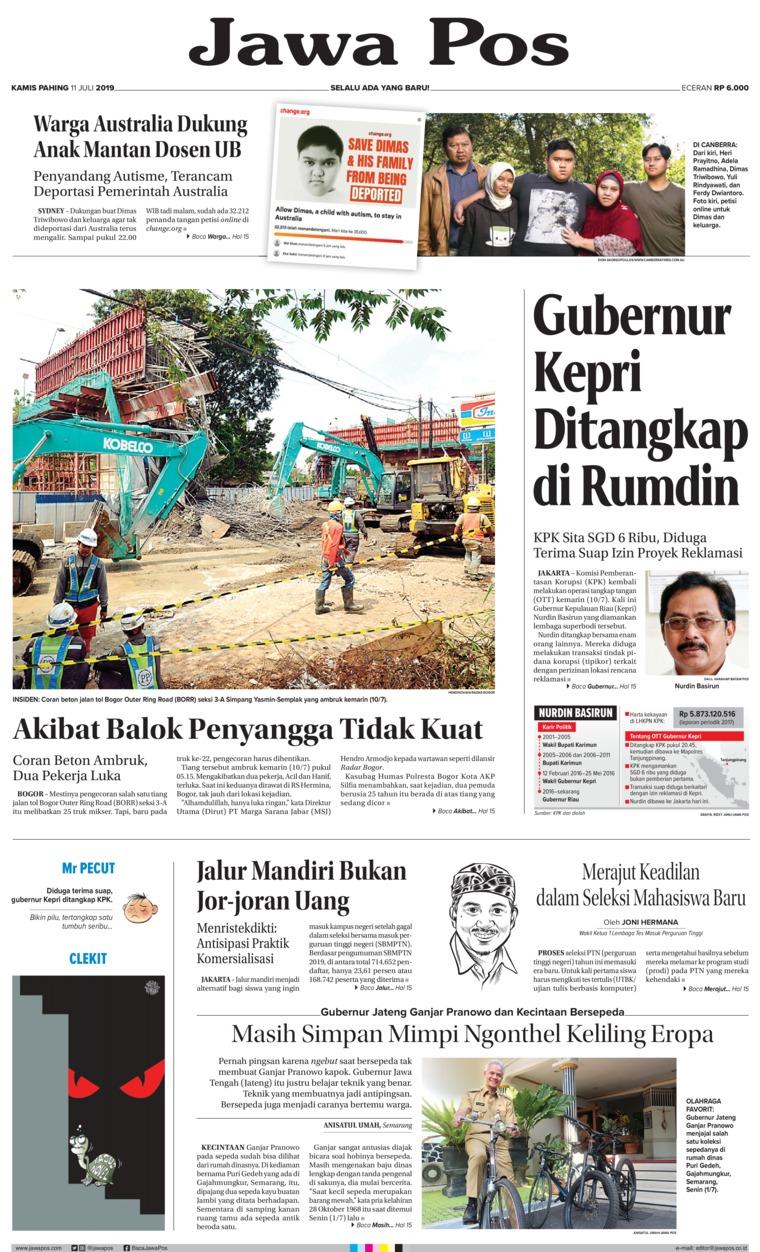 Koran Digital Jawa Pos 11 Juli 2019
