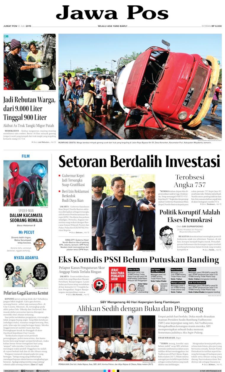 Koran Digital Jawa Pos 12 Juli 2019