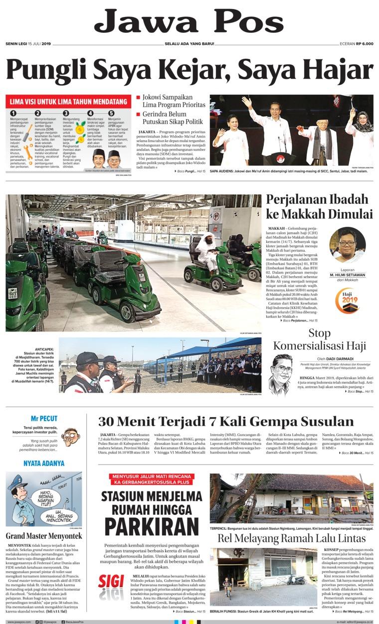 Koran Digital Jawa Pos 15 Juli 2019