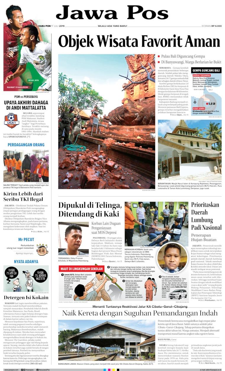 Jawa Pos Digital Newspaper 17 July 2019