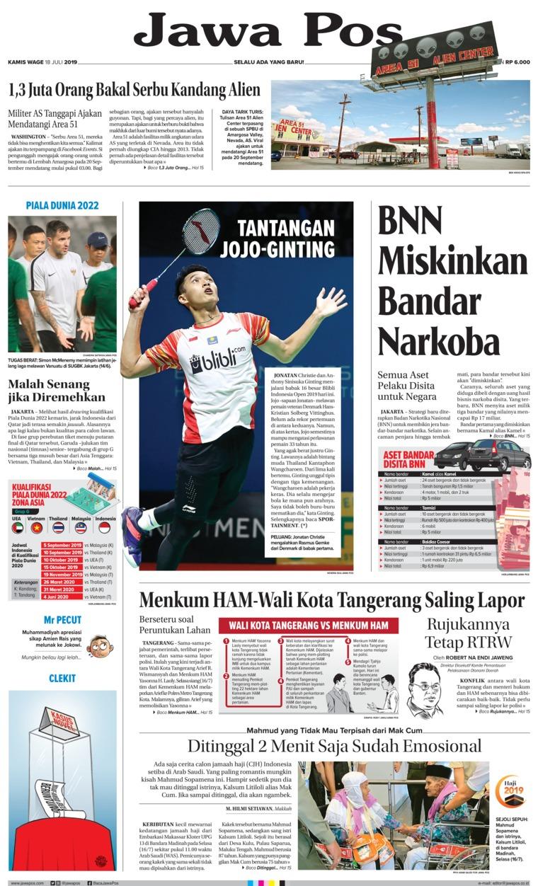 Jawa Pos Digital Newspaper 18 July 2019