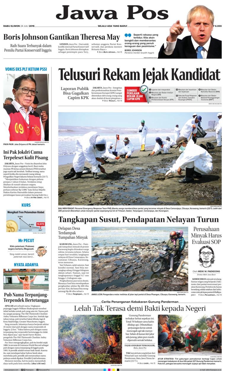 Jawa Pos Digital Newspaper 24 July 2019
