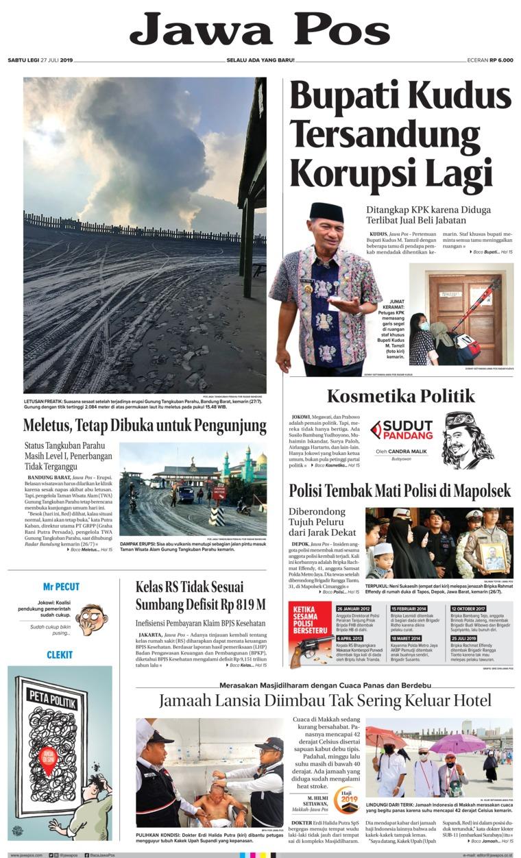 Jawa Pos Newspaper 27 July 2019 - Gramedia Digital