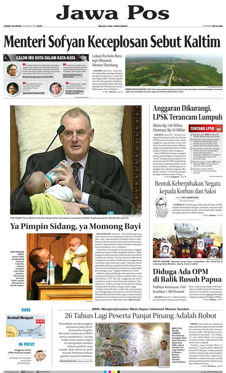 Koran Digital Jawa Pos 23 Agustus 2019