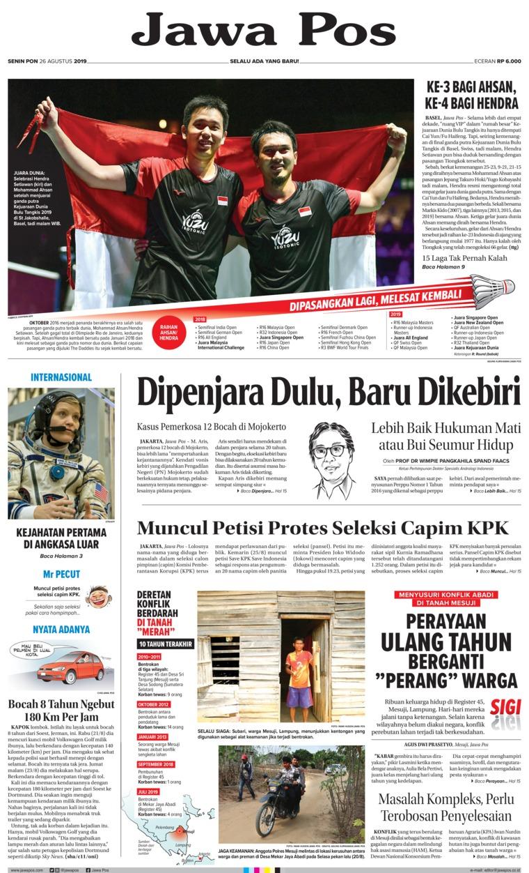 Koran Digital Jawa Pos 26 Agustus 2019