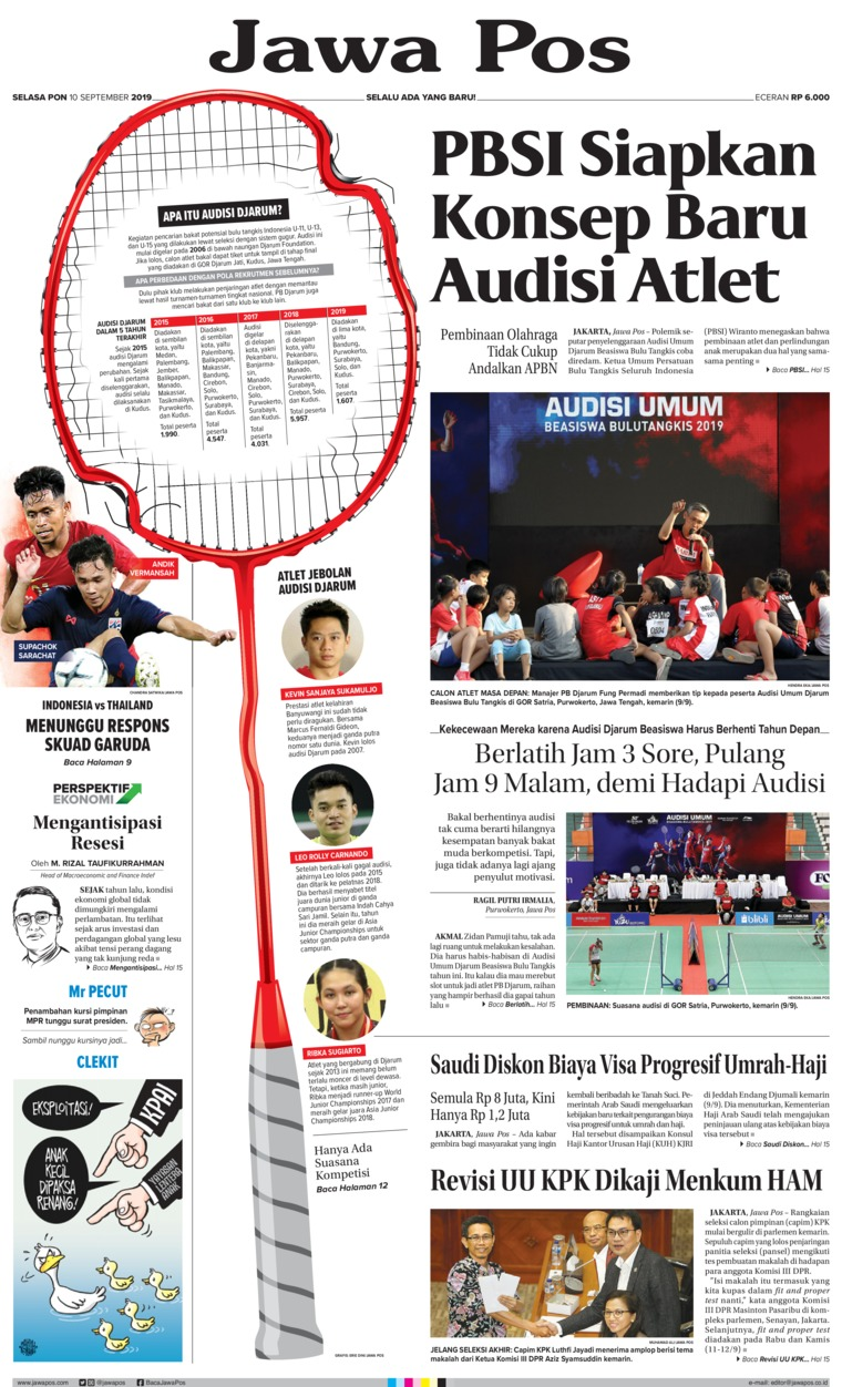 Jawa Pos Digital Newspaper 10 September 2019
