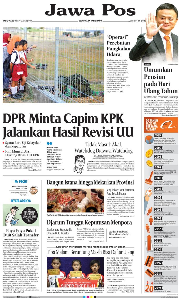 Koran Digital Jawa Pos 11 September 2019