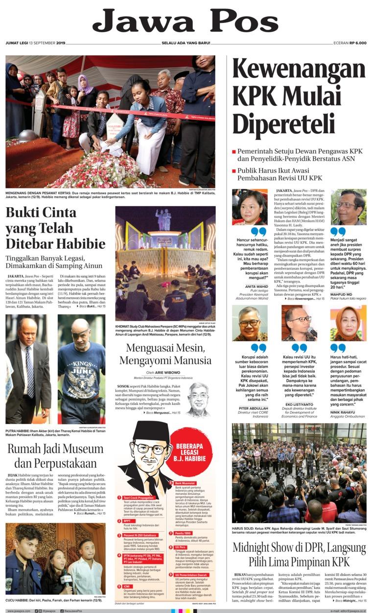 Jawa Pos Digital Newspaper 13 September 2019