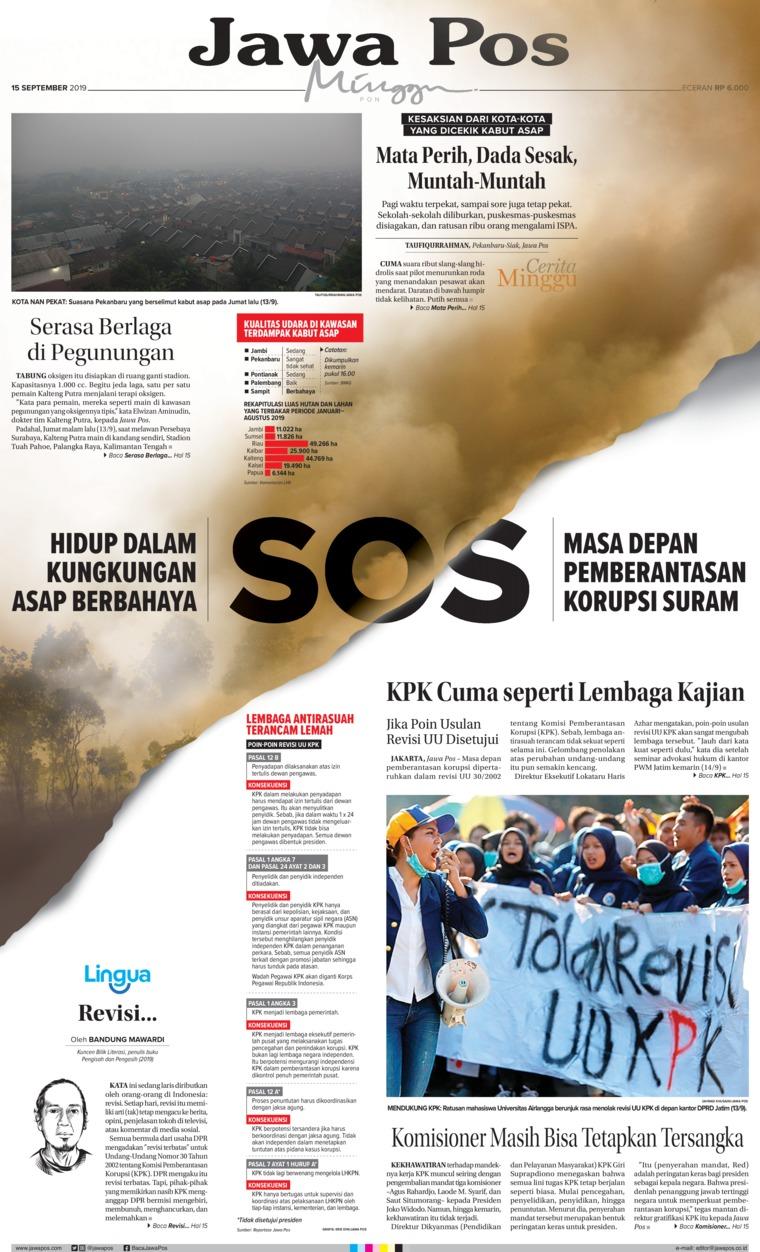 Jawa Pos Digital Newspaper 15 September 2019