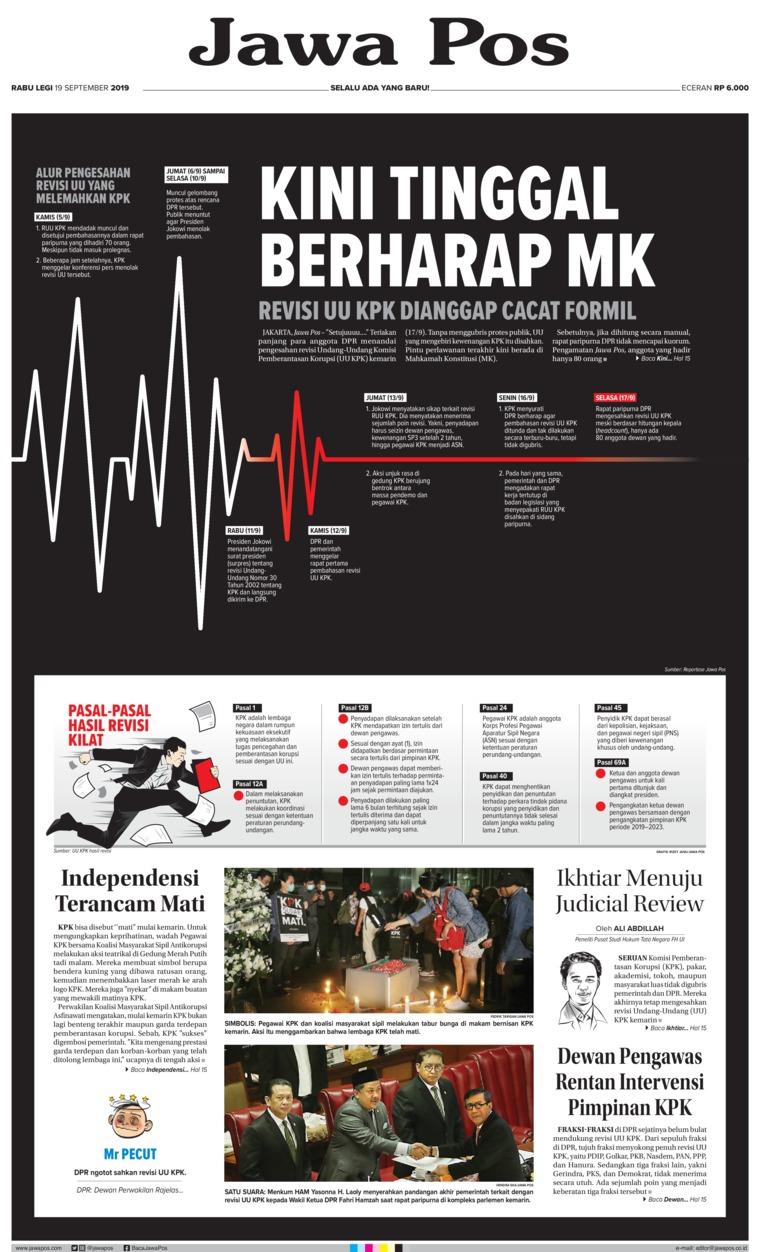 Koran Digital Jawa Pos 18 September 2019