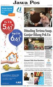 Cover Jawa Pos 09 Februari 2018