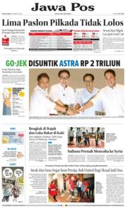 Cover Jawa Pos 13 Februari 2018