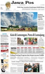 Cover Jawa Pos 20 Februari 2018
