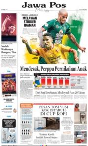 Cover Jawa Pos 22 April 2018