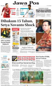 Cover Jawa Pos 25 April 2018