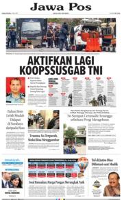Cover Jawa Pos 17 Mei 2018