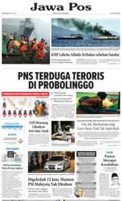 Cover Jawa Pos 18 Mei 2018