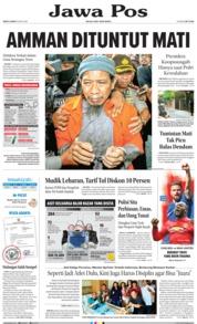 Cover Jawa Pos 19 Mei 2018