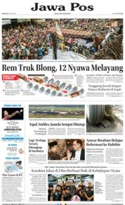 Cover Jawa Pos 21 Mei 2018