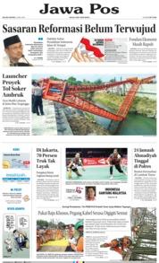 Cover Jawa Pos 22 Mei 2018