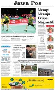 Cover Jawa Pos 25 Mei 2018
