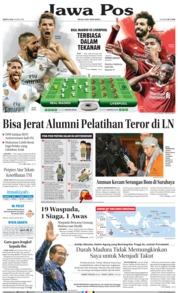 Cover Jawa Pos 26 Mei 2018