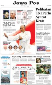 Cover Jawa Pos 27 Mei 2018