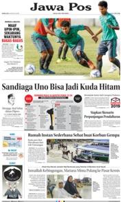Cover Jawa Pos 09 Agustus 2018