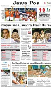 Cover Jawa Pos 10 Agustus 2018