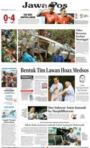 Cover Jawa Pos 13 Agustus 2018