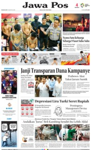 Cover Jawa Pos 14 Agustus 2018